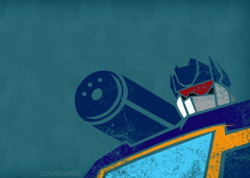 TRANSFORMERS - SOUNDWAVE POP ART canvas print - self adhesive poster - photo print